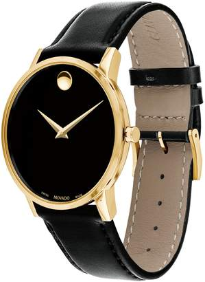 Movado Esq Museum Classic Leather Strap Analog Watch