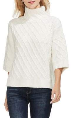 Vince Camuto Sapphire Sheen Funnel Neck Sweater