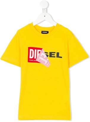 Diesel peel off logo T-shirt