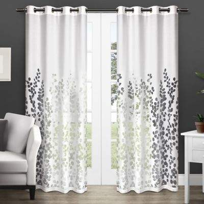 Wilshire 108-Inch Grommet Top Window Curtain Panel Pair in White