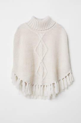 H&M Knit Poncho - White