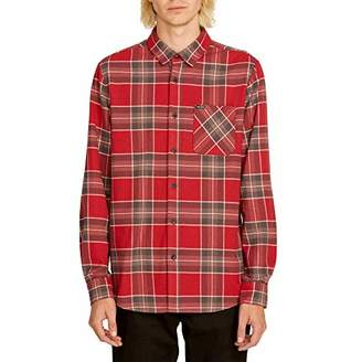 495db5d27 Volcom Men's Caden Flannel Plaid Long Sleeve Shirt