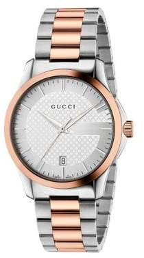 Gucci G-Timeless Two-Tone Stainless Steel Bracelet Watch