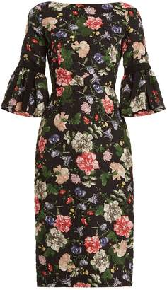 Erdem Alexandra floral-print matelassé dress