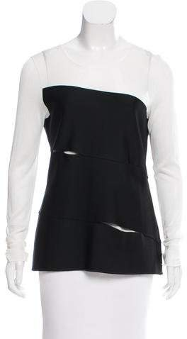Christian Dior Cutout Mesh Top