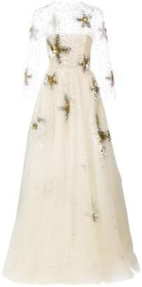 Oscar de la Renta sequin-embroidered starfish gown