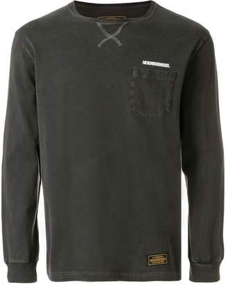 Neighborhood chest pocket logo sweatshirt