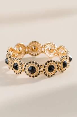francesca's Bailey Filigree Stretch Bracelet - Black