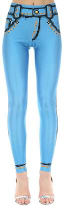 Moschino Trompe L'oeil Denim Effect Lycra Legging