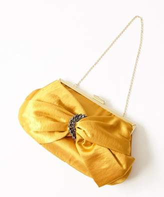 FURIFU 【結婚式・お呼ばれ対応】サテンビジュークラッチバッグ