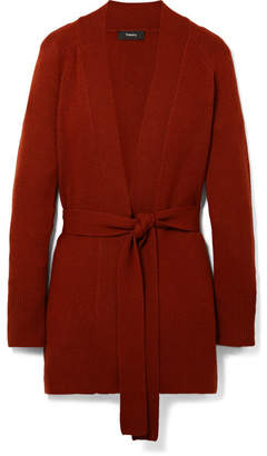 Theory Malinka Belted Cashmere Cardigan - Red