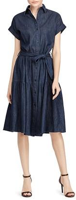 Lauren Ralph Lauren Denim Midi Dress $135 thestylecure.com
