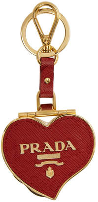 Prada Red Heart Pill Box Keychain