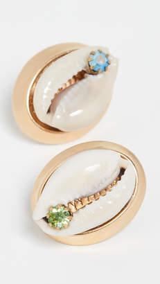 Eliza J Brinker & Salty Air Stud Earrings
