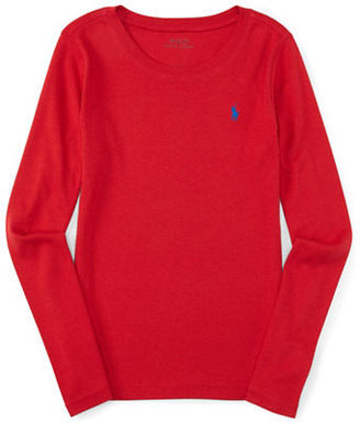 Ralph Lauren Childrenswear Girls 7-16 Long Sleeve Roundneck Top $27.50 thestylecure.com