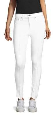 Rag & Bone High-Rise Pintuck Jeans