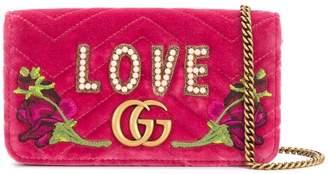 Gucci GG Marmont embroidered mini bag