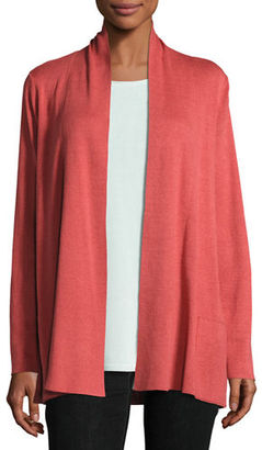 Eileen Fisher Shawl-Collar Open-Front Cardigan $238 thestylecure.com