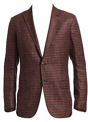 Saks Fifth Avenue Men's COLLECTION Wool Houndstooth Sportcoat