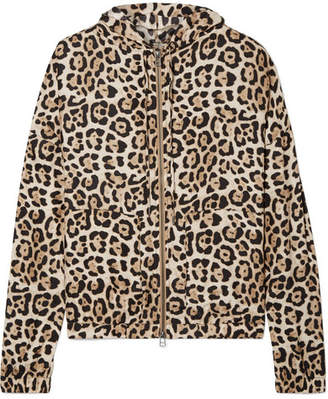 ATM Anthony Thomas Melillo Hooded Leopard-print Silk-charmeuse Jacket