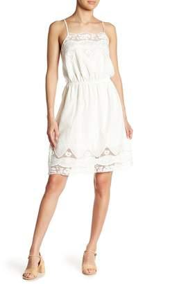 Angie Eyelet Embroidered Sleeveless Dress