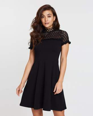 Dorothy Perkins Lace Neckline Dress