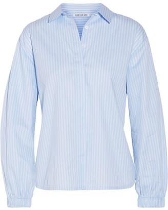 Elizabeth and James - Estelle Striped Cotton-poplin Shirt - Light blue $325 thestylecure.com