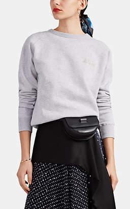 "Maison Labiche Women's ""Oh La La!"" Cotton Fleece Sweatshirt - Gray"