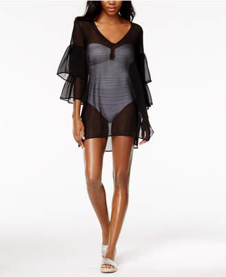 Michael Kors MICHAEL Sheer Ruffled Cover-Up Dress