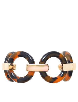 J.Crew Tortoise circle link bracelet