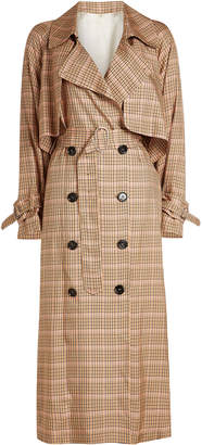 Golden Goose Vela Checked Trench Coat