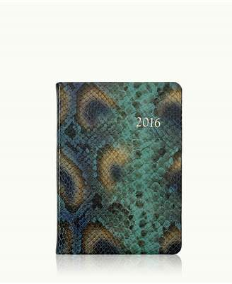 GiGi New York 2016 Notebook In Peacock Embossed Python Leather