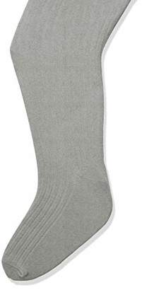 Melange Home Melton Girls' Basic Strumpfhose Ripp Tights, (Light Grey 135), 31-34 (Herstellergröße: 7-8Y) UK