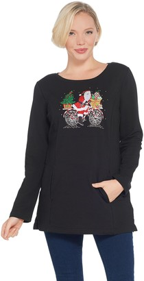 Factory Quacker Holiday French Terry Tunic with Pockets