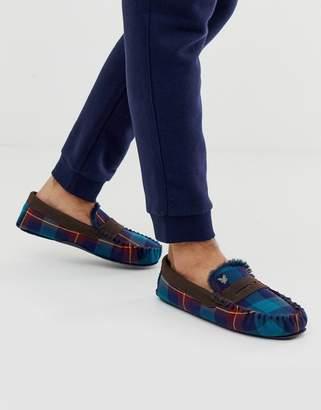 Lyle & Scott tartan slippers