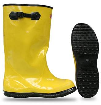 "Boss Gloves 2KP448109 Size 9 17"" Yellow/Black Rubber Over-The-Shoe Slush Knee Boot"