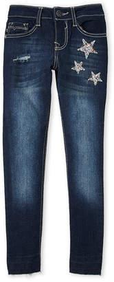 Vigoss Girls 7-16) Embellished Star Skinny Jeans