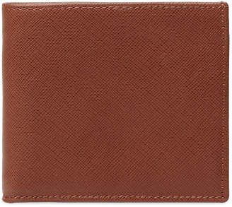 DeSanto Saffiano Leather Short Bifold Wallet
