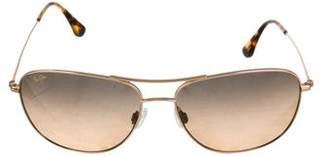 Maui Jim Tinted Aviator Sunglasses