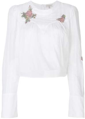 Natasha Zinko floral-embroidered top