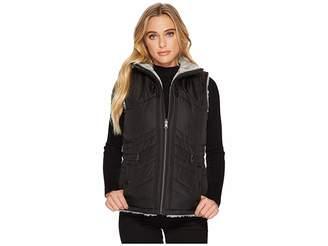 KC Collections Reversible to Faux Fur Vest w/ Drawstring Waist Women's Coat