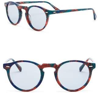 Oliver Peoples Gregory Peck 47mm Round Sunglasses