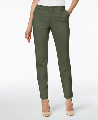 Style & Co Cuffed Slim-Leg Pants, Created for Macy's $19.98 thestylecure.com