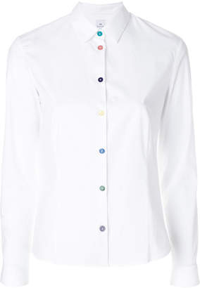 Paul Smith contrast-button fitted shirt