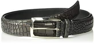 Stacy Adams Men's Ozzie Big & Tall Croc Embossed Belt