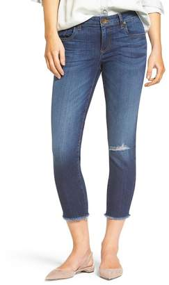 KUT from the Kloth Donna Crop Fray Hem Skinny Jeans