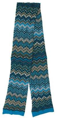 Missoni Wool Chevron Patterned Scarf