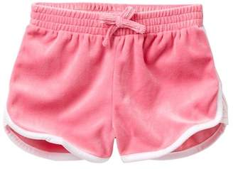 Juicy Couture Pink Lace Inset Velour Shorts (Big Girls)