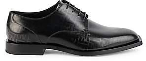 Fendi Men's FF Logo Leather Derby Shoes