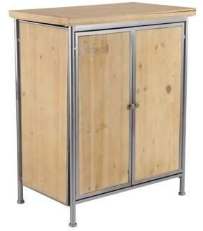 3.1 Phillip Lim DecMode Decmode Rustic X 26 Inch Rectangular Two-Door Wood and Metal Cabinet